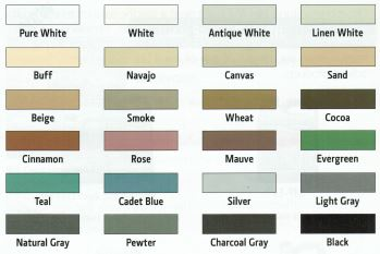 grout colour chart